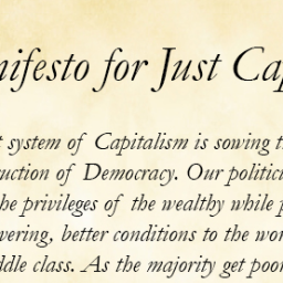 A Manifesto for Just Capitalism
